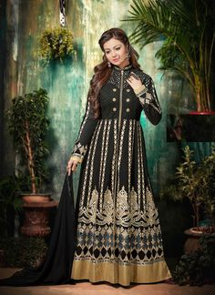 #Ayesha #Takia In #Black Pure Georgette #Anarkali #Suit #nikvik  #usa #designer #australia #canada #freeshipping #dress #suits