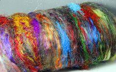 Art Batt Spinning Felting FiberGarden Grow Totally by Jazzturtle, $34.00