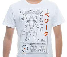 Imagem da camiseta ilustrada Saiyajin Blueprint por Tiago Conceicao