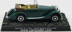 EDICOLA BONDCOL064 1/43 BENTLEY 4 1/4 LITRE CABRIOLET 1937  - 007 JAMES BOND - FROM RUSSIA WITH LOVE - Skala:: 1/43Zustand: MCode: BONDCOL064Farbe: GREENMaterial: Die-Cast  Anmerkung: JAMES BOND 007 DIORAMA COLLECTION - TV SERIES