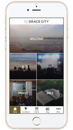 Church App - Beautiful Custom Mobile Apps for Churches Mobile Design, App Design, Christian Apps, Church App, Application Design, Ui Inspiration, Small Groups, Mobile App, Bible