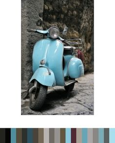classic italian scooter.... I want one! And of course I would need and awesome side car to match