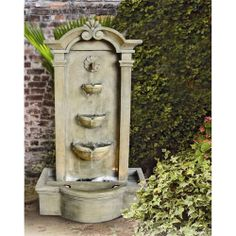 Southwestern Indoor/Outdoor Floor Water Fountain with LED Light Outdoor Decor