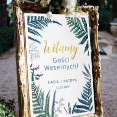 Piękny biały plakat z botanicznym motywem to idealny pomysł, by powitać gości na weselu! #kolekcjaslubne #slub #wesele #dekoracjeslubne #podziekowaniadlagosci #botanica Poster