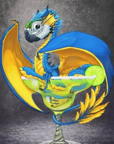 Stanley Morrison's fantasy dragon posters featuring a blue macaw style dragon sitting in a margarita glass. Blue Macaw, Dragon Artwork, Fantasy Dragon, Canvas Prints, Art Prints, Vacation Pictures, Margarita, Wrapped Canvas, Posters