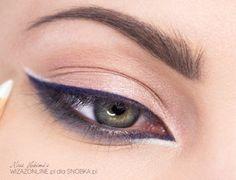 Zaakcentuj kąciki oczu - użyj w tym celu kredki z opalizującym wykończeniem w kolorze biało-miętowym.