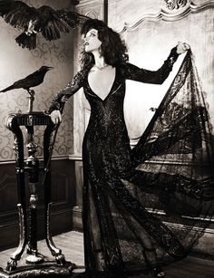 Charlotte Le Bon for Vogue Russia by Ellen von... - mlle ghoul's fairy tales from the shadows