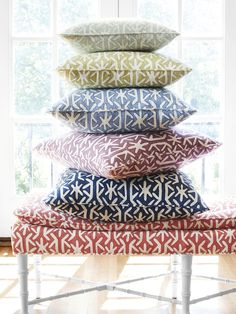 This collection is flush with trend themes and is a chic and invigorating cluster of vibrant sea stills, inspiring ikats, and a plethora of whimsical designs awash in carefree tones.