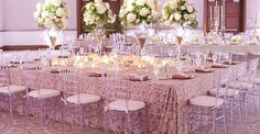 Weddings - Unique and amazing arrangements. romantic weddings theme colors eye popping help shared on this day 20181224 id 7710864852 Romantic Weddings, Unique Weddings, Princess Chair, Tiffany Chair, Clear Chairs, Winter Park Florida, Ghost Chairs, Wedding Furniture, Wedding Decorations