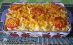 Cheddar sajtos makaróni recept fotóval