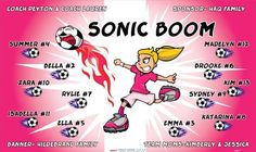 Boom-Sonic-44871  digitally printed vinyl soccer sports team banner. Made in the USA and shipped fast by BannersUSA. www.bannersusa.com
