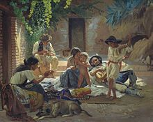 A moment of rest on the neverending road of the gypsy. Enjoying moments such as these to their fullest is part of the heart of the gypsy ~ romanipen. Rembrandt, Spanish Gypsy, Gypsy People, Rome Art, Gypsy Fortune Teller, Family Painting, Painting Art, Gypsy Life, Gypsy Soul