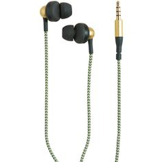 KREAFUNK aGem In-Ear Headphones - Army ($50) ❤ liked on Polyvore featuring accessories, tech accessories, green and green headphones