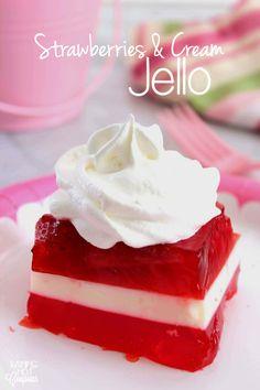 Strawberries & Cream Jello