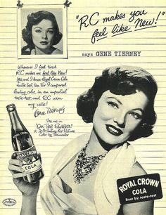 Royal Crown Cola - Gene Tierney | Flickr - Photo Sharing!