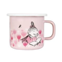 Muurla - Moomin Day in the Garden Little MyEmaille Becher l Moomin Shop, Moomin Mugs, Tove Jansson, Mix Style, Microwave Oven, Little My, Keep It Cleaner, Pink Girl, Cute Girls