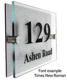 Designer Acrylic House Number Plaque - Free Delivery – The Acrylic Master House Number Plaque, House Numbers, Directory Signs, Glass Signage, Name Plate Design, Office Signage, Acrylic Plaques, 3d Laser, Signage Design