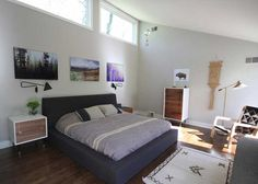Midcentury Modern Bedroom with Rugged Simplicity