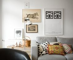 Gray sofa..