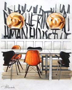 """Check out new work on my portfolio: """"Interiors Interior Architecture Drawing, Drawing Interior, Interior Design Sketches, Interior Rendering, Interior Design Presentation, Abstract City, Sketch Markers, Technical Drawing, Collage"""