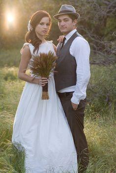 wheat bouquet, easy wedding hair, vintage