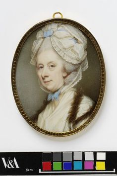 Portrait miniature of an unknown woman, Jeremiah Meyer, watercolor on ivory, c. 1780, English.