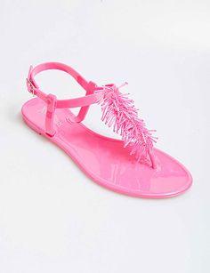 Fringe Jelly Sandals, flirtcatalog.com