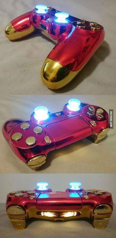 Custom Iron Man PS4 Controller