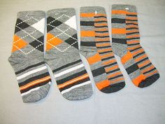 Smartwool Boys 2 Lot Socks Striped Diamond Gym Split Stripe Heather Gray 088 | eBay
