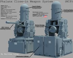 A close-in weapon system is designed to defend a strategic target (usually a ship) from missiles or other high-velocity airborne targets. The block 1-B model is designed for both air and surface at...