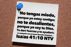 Isaías 41:10 Useful Life Hacks, God Loves You, Biblical Quotes, Christians