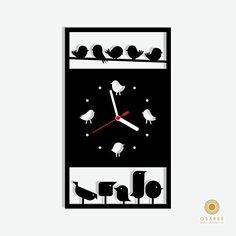 Birds Silhouette Modern Wall Clock Osaree http://www.amazon.com/dp/B015HC9L00/ref=cm_sw_r_pi_dp_ulocwb15F848S