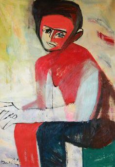 Ritratto di Egon Schiele. Portrait of Egon Schiele. 1994. Gabriele Donelli