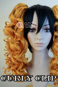 Curly Clip in natural black from Arda wigs
