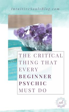 Being a beginner psychic can be a little overwhelming at times. Doubt, wondering if it's all in your head, worrying that people will think you're weird. I hear ya! This post will teach you one critical step that will help wash your fears away. This is seriously good stuff!