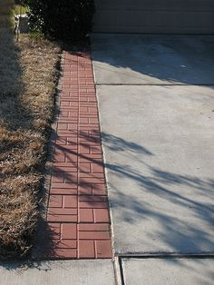 Repave your driveway for instant curb appeal pinterest driveways gonna do something like this on both sides of our driveway to a make it wider and b add walkways to the front door without having to walk by the cars and solutioingenieria Choice Image