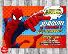 Invitación de hombre araña, Spider man invitación, invitación de cumpleaños de Spiderman, invitación imprimible, fiesta Spiderman, invitaciones de hombre araña