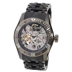 mens+invicta+watches | Invicta 10354 Men's Sea Spider Skeleton Silver Dial Mechanical Watch