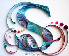 Concentric Arcs Quilled Letter S Monogram