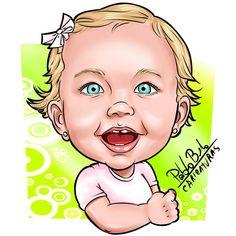 Caricatura, desenho, Ilustração, Criança, Menina, Olhos azuis, bebê.