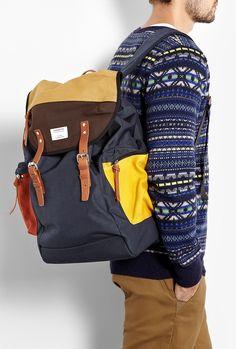 Navy Multi Cordura Lars-Goran Mountain Backpack by Sandqvist