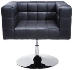 Swivel Chair Black Cube by #KAREDesign