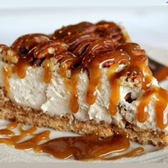 19 Cheesecake recipes you can't resist! Caramel Pecan Pie Cheesecake is the perfect Thanksgiving dessert! Cheesecake topped with pecans with warm caramel drizzled over! Pecan Pie Cheesecake, Cheesecake Recipes, Dessert Recipes, Turtle Cheesecake, Chocolate Cheesecake, Jiggly Cheesecake, Yummy Recipes, Passionfruit Cheesecake, Snacks