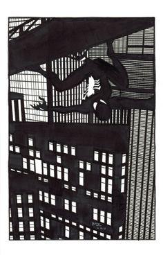 Spider-Man by Ryan Bodenheim Black Spiderman, Spiderman Art, Amazing Spiderman, Marvel Art, Marvel Dc Comics, Comic Books Art, Comic Art, Spectacular Spider Man, Spider Verse