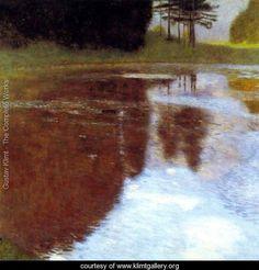 Still Pond - Gustav Klimt - www.klimtgallery.org  omg!  unbelievable, I'm in heaven!    annebevan.com