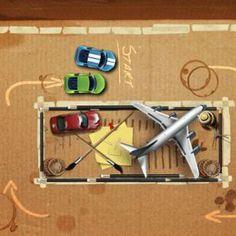 Cardboard Race, jocuri cu masini