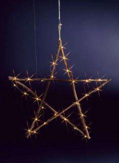 Stern aus Zweigen mit LED's 60x2 cm (Ø/T)