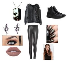 """Untitled #173"" by fashionisbae12 on Polyvore featuring Converse, Lime Crime and REGALROSE"