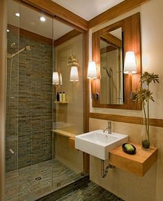 Modern Home craftsman bathroom Design Ideas, Pictures, Remodel and Decor Modern Bathroom Design, Bath Design, Bathroom Interior Design, Modern House Design, Bathroom Designs, Sink Design, Classic Bathroom, Modern Bedroom, Bad Inspiration