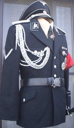 ナチス親衛隊黒服展示と販売
